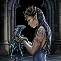 Flo gribouille - water dragon d'anne stokes - 1/42