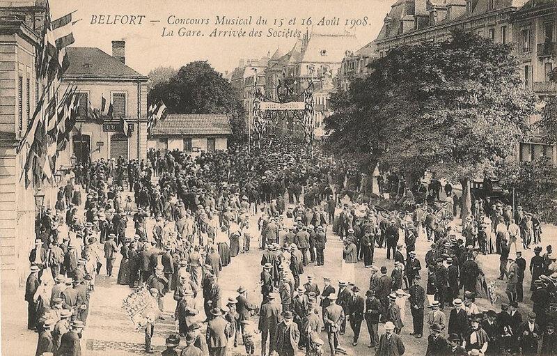 Belfort 1908 08 15 & 16 CPA n°12 Gare