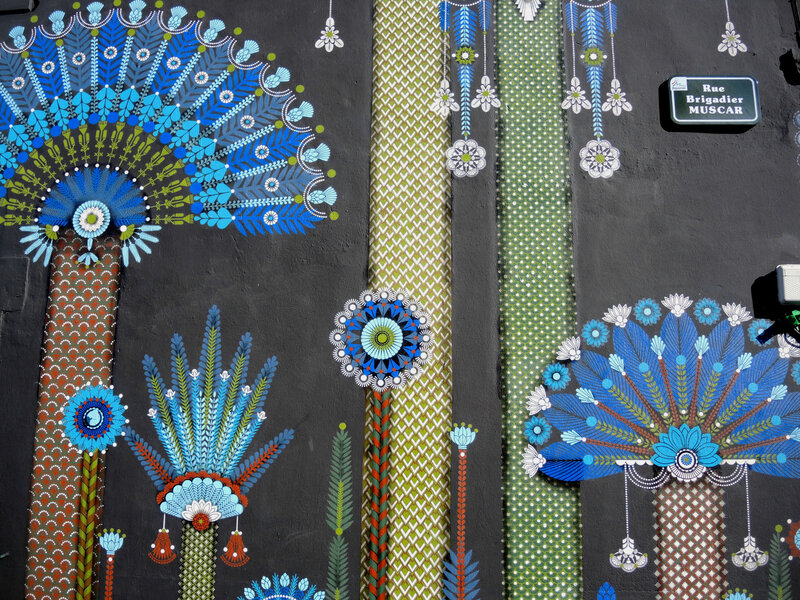 Bayonne, festival Street art Point de vue 2018, Rue du Brigadier Muscar, par Koralie