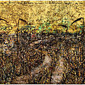 Anselm kiefer: field of the cloth of gold à la galerie gagosian, le bourget