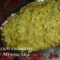 Dhaal au riz safrané - inde