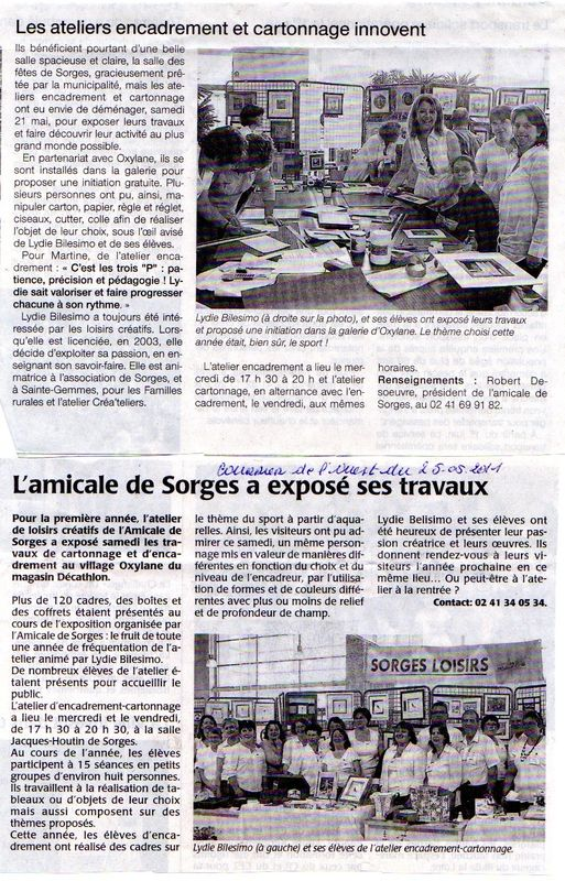 Articles expo Sorges 2011