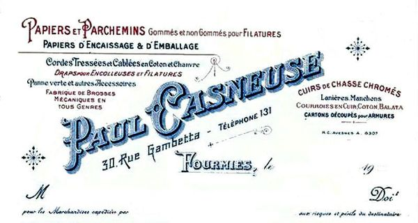 FOURMIES-Pub Paul Casneuse 1933