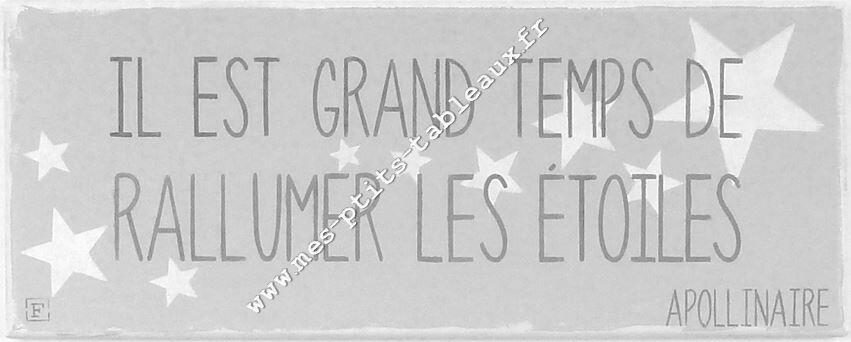Citation RALLUMER LES ETOILES, G.APOLLINAIRE
