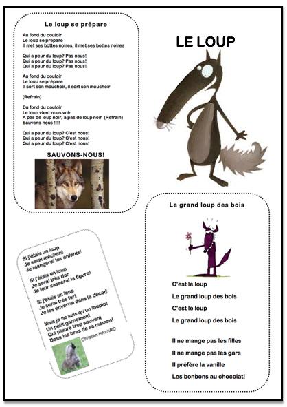 Chansons Et Poésie De Loups La Maternelle De Vivi