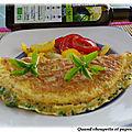 Omelette a la ciboulette