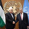 La palestine prend officiellement la tête du g77