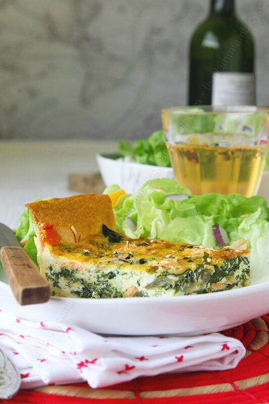quiche saumon epinards facile 0001 LE MIAM MIAM BLOG