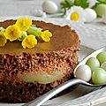 Le dessert de pâques {chocolat caramel et pommes}