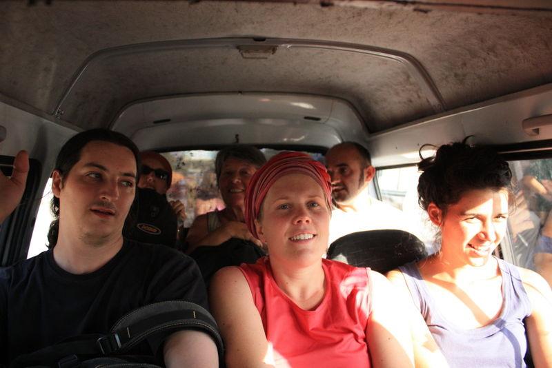 Dans un taxi au retour de Soukok