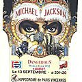Ticket du dangerous world tour à paris