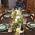 Table de noel sur le theme de la foret