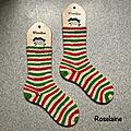 Tricot: chaussettes de noël candy cane