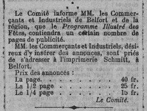 1919 07 24 Fêtes patriotiques La Frontière p0bR
