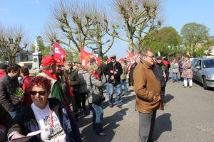 1er mai 2013 Avranches CGT FSU FO SUD Front de Gauche public