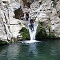 Sortie canyoning pour des élèves de l'as montagne / sports nature du lycée jean-moulin de béziers