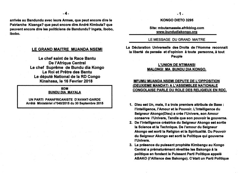 ROLE DES RELIGIEUX EN RDC a