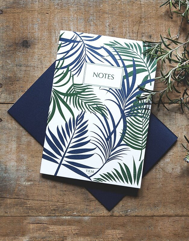 carnet jungle feuilles