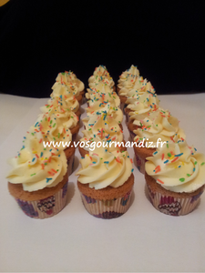 Mini cupcakes vanille Vos Gourmandiz
