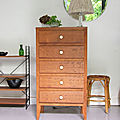 Commode chiffonnier vintage honey