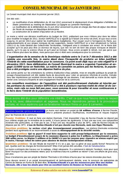 INFORMATIONS MUNICIPALES PAGE 2
