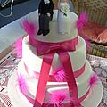 Un wedding cake tons fushia