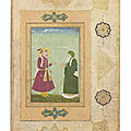 A meeting between shah jahan and khizir, mughal india, circa 1640-1660