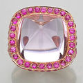 An amethyst and pink sapphire ring, laura munder