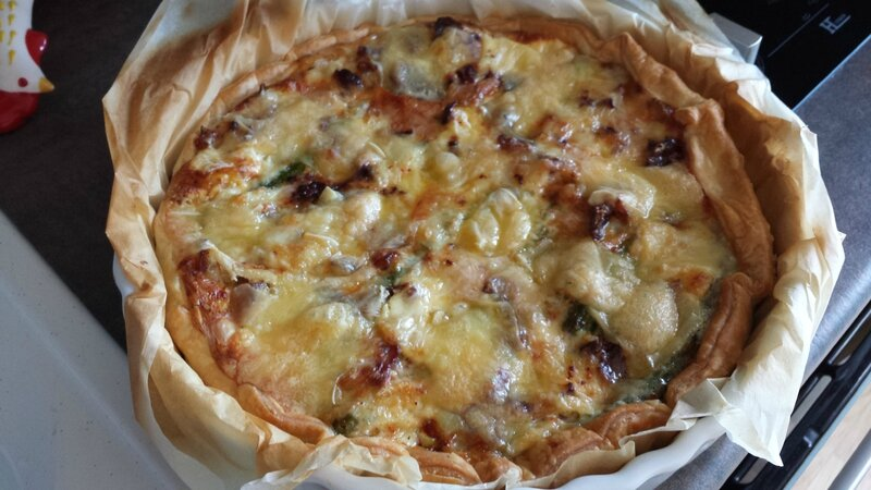 tarte asperges, bacon et fromage 1