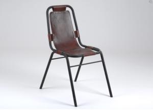 Clin Doeil Sur LA Superbe Chaise Vintage En Cuir Et Metal Des Meubles Industriels DAmadeus
