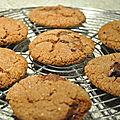 Biscuits moelleux au chocolat gingembre et quatres épices : addictifs trés addictifs