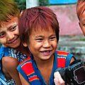 Hpa-an - weird coloured hair boys