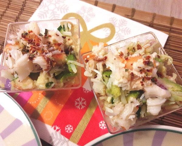 barquettes crevettes-avocat-crabe (3)
