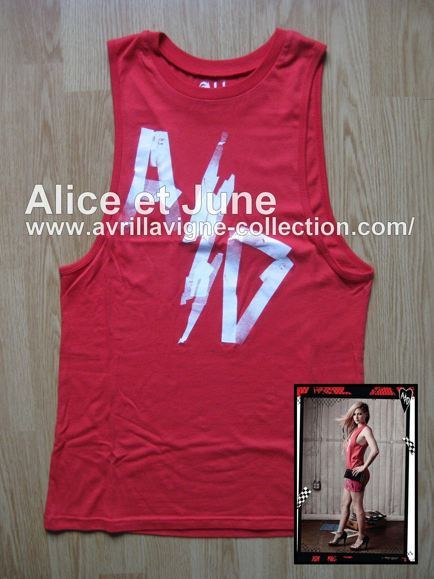 Abbey Dawn AD Electrical Tape Muscle Tank