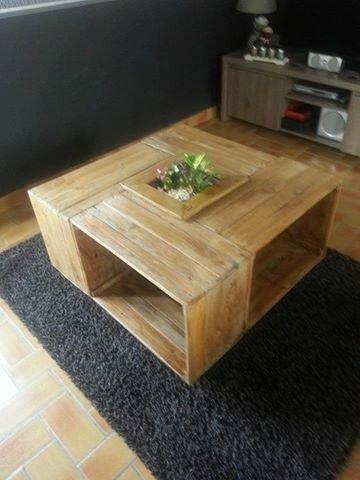 * Table basse fabriquée par Sébastien