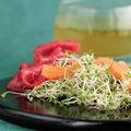 Carpaccio aux pousses de brocoli