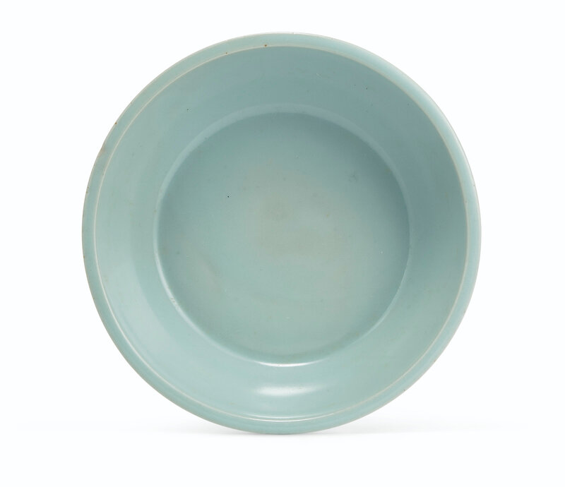 A superb 'Kinuta' Longquan celadon washer, Southern Song dynasty (1127-1279)