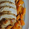 Roti de dinde en sucré salé et carottes fondantes
