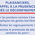 Réouverture de la plaisance ce 11 mai 2020 - reopening of yachting on march 11, 2020