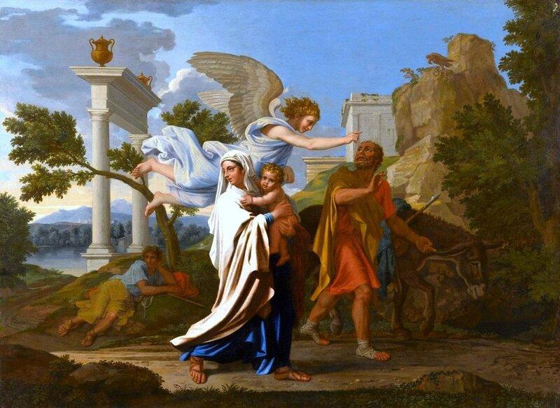La Fuite en Egypte, Nicolas Poussin, 1657
