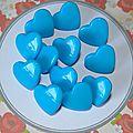 Bouton pression Kam coeur bleu