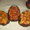 petits fours (pizzas, quiches,tartelettes poireaux-saumon)