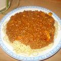 Mes spaghettis à la sauce bolognaise