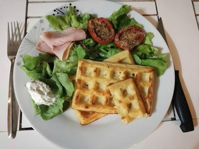 gaufres fromage oignon