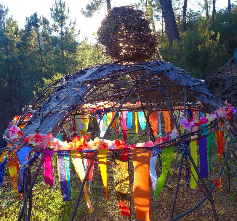 soleil dans guirlandes tissu yurtao