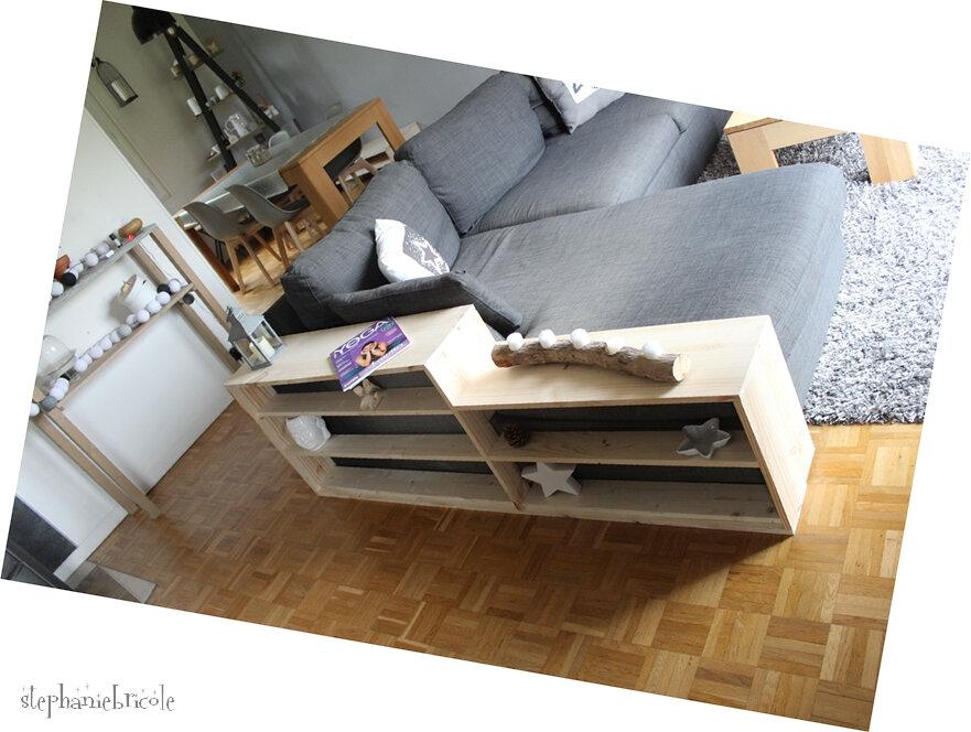 DIY - un meuble pour canapé (astuce camouflage !)