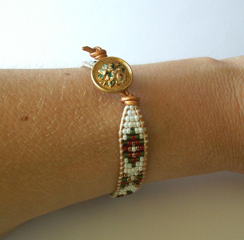 bracelet ethnique porté 2