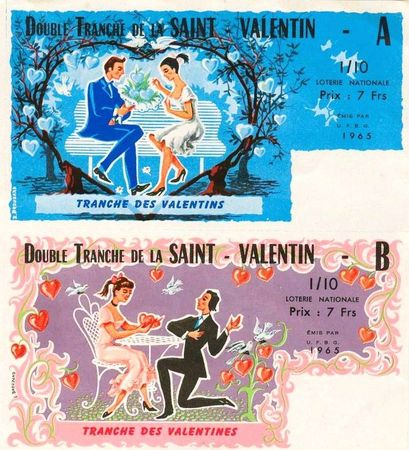 Loterie Nationale Saint Valentin 1965