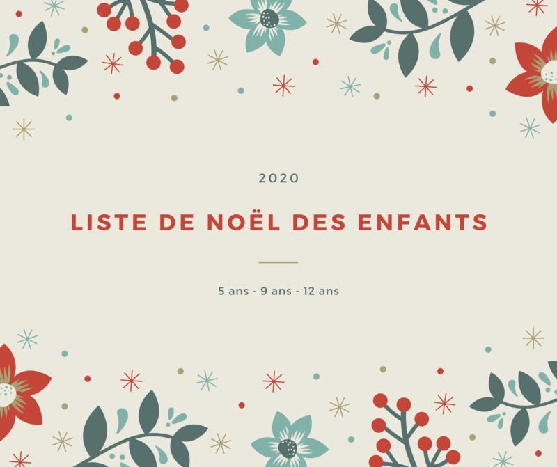 Liste de Noël des enfants 2020 ©Kid Friendly