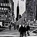 New-York - Port authority - Linogravure